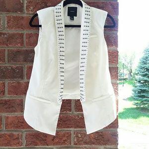 F21 Studded Open Vest Size S